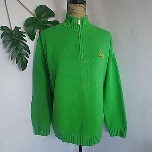 Lauren Ralph Lauren Green Half Zip Cotton Sweater